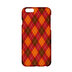 Argyle Pattern Background Wallpaper In Brown Orange And Red Apple Iphone 6/6s Hardshell Case by Simbadda