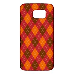 Argyle Pattern Background Wallpaper In Brown Orange And Red Galaxy S6