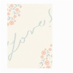 Love Card Flowers Large Garden Flag (two Sides) by Simbadda