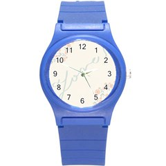 Love Card Flowers Round Plastic Sport Watch (s) by Simbadda