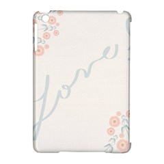 Love Card Flowers Apple Ipad Mini Hardshell Case (compatible With Smart Cover) by Simbadda