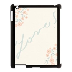 Love Card Flowers Apple Ipad 3/4 Case (black) by Simbadda