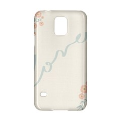Love Card Flowers Samsung Galaxy S5 Hardshell Case  by Simbadda