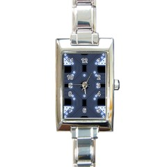 A Completely Seamless Tile Able Techy Circuit Background Rectangle Italian Charm Watch by Simbadda