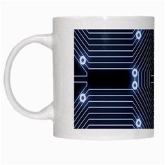 A Completely Seamless Tile Able Techy Circuit Background White Mugs by Simbadda