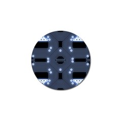 A Completely Seamless Tile Able Techy Circuit Background Golf Ball Marker (10 Pack) by Simbadda