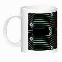 A Completely Seamless Tile Able Techy Circuit Background Night Luminous Mugs by Simbadda