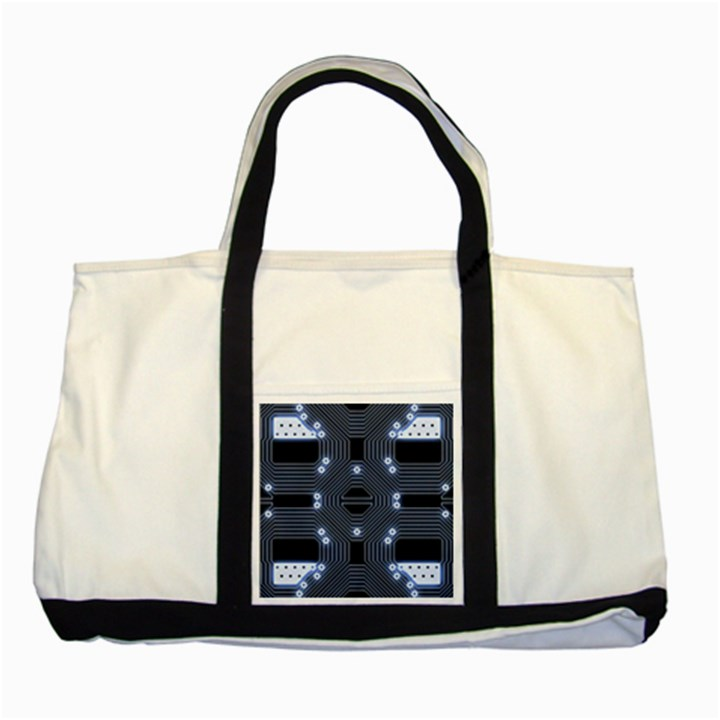 A Completely Seamless Tile Able Techy Circuit Background Two Tone Tote Bag
