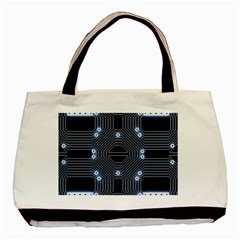 A Completely Seamless Tile Able Techy Circuit Background Basic Tote Bag (two Sides) by Simbadda