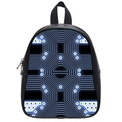A Completely Seamless Tile Able Techy Circuit Background School Bags (small)  by Simbadda