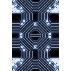 A Completely Seamless Tile Able Techy Circuit Background 5 5  X 8 5  Notebooks by Simbadda