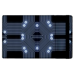 A Completely Seamless Tile Able Techy Circuit Background Apple Ipad 2 Flip Case by Simbadda