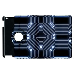 A Completely Seamless Tile Able Techy Circuit Background Apple Ipad 2 Flip 360 Case by Simbadda
