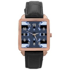 A Completely Seamless Tile Able Techy Circuit Background Rose Gold Leather Watch  by Simbadda