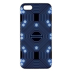 A Completely Seamless Tile Able Techy Circuit Background Iphone 5s/ Se Premium Hardshell Case by Simbadda