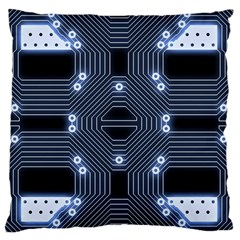 A Completely Seamless Tile Able Techy Circuit Background Standard Flano Cushion Case (one Side) by Simbadda