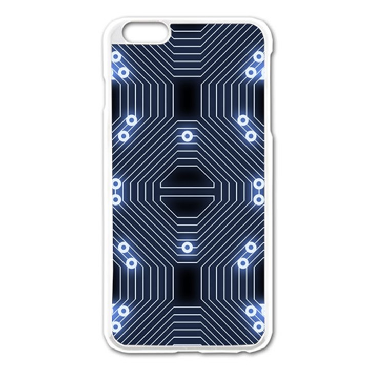 A Completely Seamless Tile Able Techy Circuit Background Apple iPhone 6 Plus/6S Plus Enamel White Case