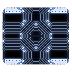 A Completely Seamless Tile Able Techy Circuit Background Double Sided Flano Blanket (small)  by Simbadda
