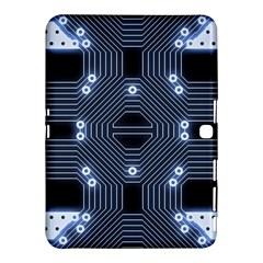 A Completely Seamless Tile Able Techy Circuit Background Samsung Galaxy Tab 4 (10 1 ) Hardshell Case  by Simbadda