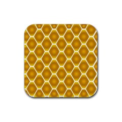 Snake Abstract Background Pattern Rubber Square Coaster (4 Pack)  by Simbadda
