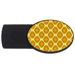 Snake Abstract Background Pattern Usb Flash Drive Oval (4 Gb) by Simbadda