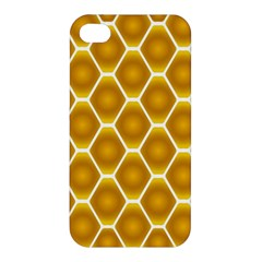 Snake Abstract Background Pattern Apple Iphone 4/4s Premium Hardshell Case by Simbadda