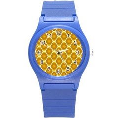 Snake Abstract Background Pattern Round Plastic Sport Watch (s) by Simbadda