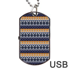 Seamless Abstract Elegant Background Pattern Dog Tag Usb Flash (two Sides) by Simbadda
