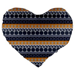 Seamless Abstract Elegant Background Pattern Large 19  Premium Flano Heart Shape Cushions by Simbadda