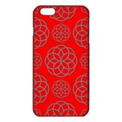 Geometric Circles Seamless Pattern On Red Background Iphone 6 Plus/6s Plus Tpu Case