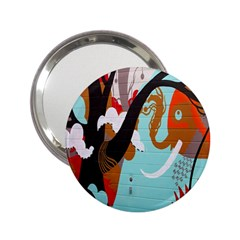 Colorful Graffiti In Amsterdam 2 25  Handbag Mirrors by Simbadda