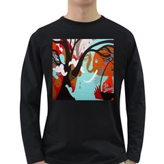 Colorful Graffiti In Amsterdam Long Sleeve Dark T Shirts by Simbadda