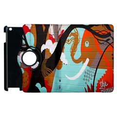 Colorful Graffiti In Amsterdam Apple Ipad 2 Flip 360 Case by Simbadda