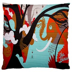 Colorful Graffiti In Amsterdam Large Flano Cushion Case (two Sides) by Simbadda