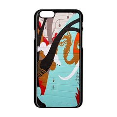 Colorful Graffiti In Amsterdam Apple Iphone 6/6s Black Enamel Case by Simbadda