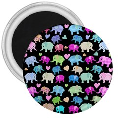 Cute Elephants  3  Magnets by Valentinaart