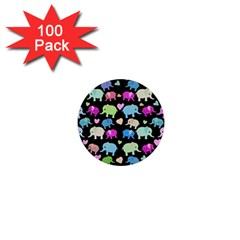 Cute Elephants  1  Mini Buttons (100 Pack)  by Valentinaart