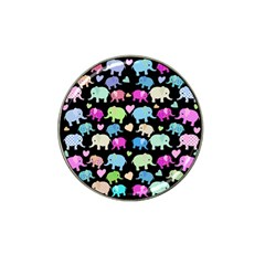 Cute Elephants  Hat Clip Ball Marker (4 Pack) by Valentinaart