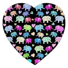 Cute Elephants  Jigsaw Puzzle (heart)