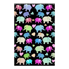 Cute Elephants  Shower Curtain 48  X 72  (small)  by Valentinaart