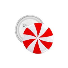 Candy Red White Peppermint Pinwheel Red White 1 75  Buttons by Alisyart