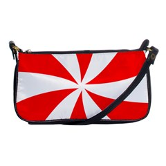 Candy Red White Peppermint Pinwheel Red White Shoulder Clutch Bags by Alisyart