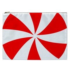 Candy Red White Peppermint Pinwheel Red White Cosmetic Bag (xxl)  by Alisyart