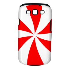 Candy Red White Peppermint Pinwheel Red White Samsung Galaxy S Iii Classic Hardshell Case (pc+silicone) by Alisyart