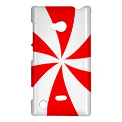 Candy Red White Peppermint Pinwheel Red White Nokia Lumia 720 by Alisyart