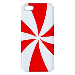 Candy Red White Peppermint Pinwheel Red White Iphone 5s/ Se Premium Hardshell Case by Alisyart