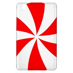 Candy Red White Peppermint Pinwheel Red White Samsung Galaxy Tab Pro 8 4 Hardshell Case by Alisyart