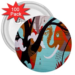 Colorful Graffiti In Amsterdam 3  Buttons (100 Pack)  by Simbadda