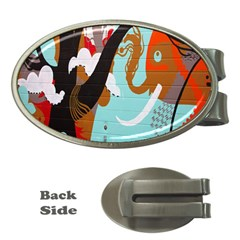 Colorful Graffiti In Amsterdam Money Clips (oval)  by Simbadda
