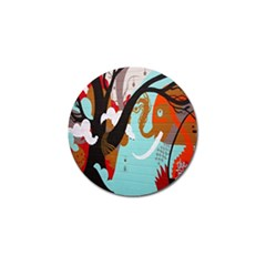 Colorful Graffiti In Amsterdam Golf Ball Marker by Simbadda